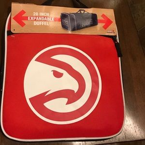 NBA Atlanta Hawks Duffle Red Bag